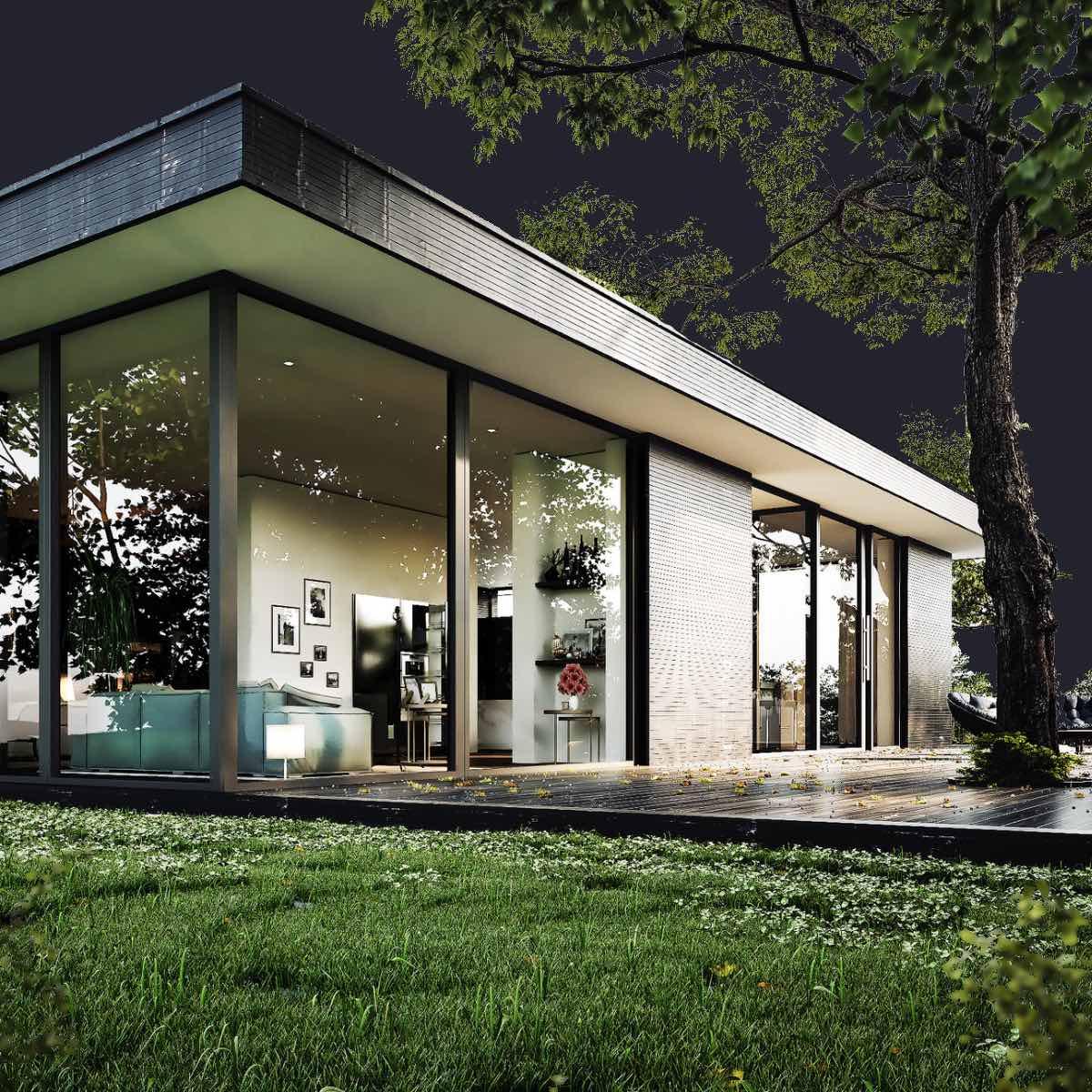 Architektur Visualisirung von einem Haus