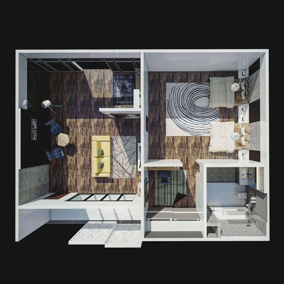 3D Grundriss zeichnen für Immobilien, Häuser und Gewerbeparks aller Art. Achiteur im feinsten 3D.