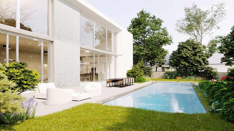 pool design architekutr visualisierung