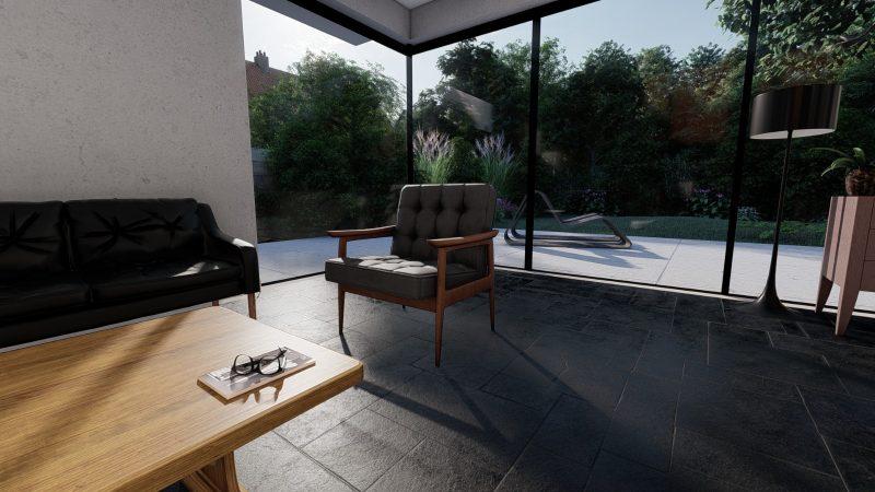 3d visualisierung stuhl