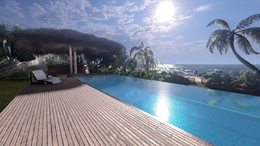 3d strand visualisiert mit pool
