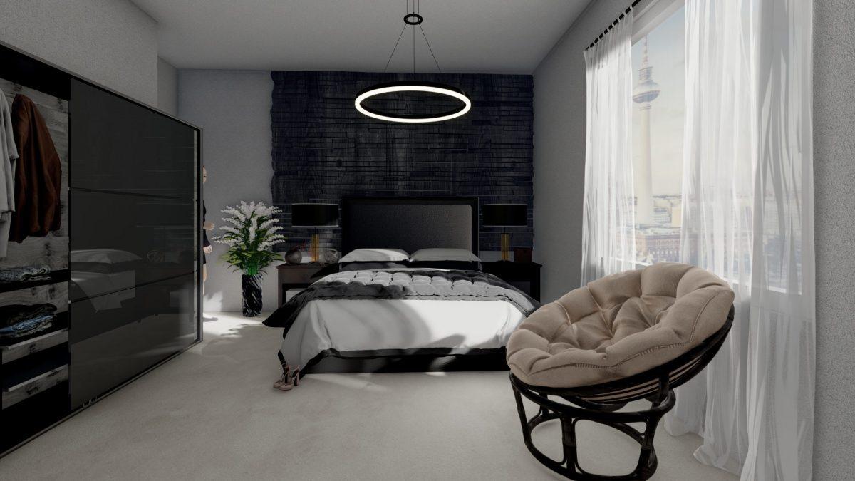 Schlafzimmer 3D Architektur Visualisierung