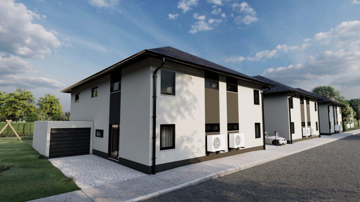 frontansicht immobilie mit realistischer 3d architektur