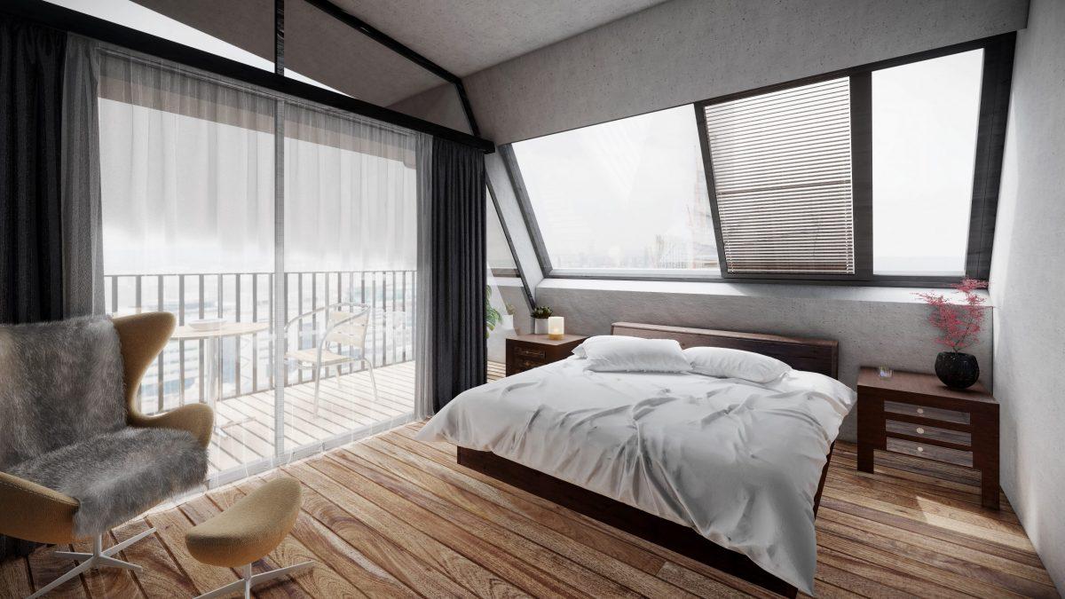 schlafzimmer in 3d rendering